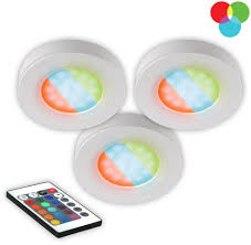 Bazz Led Puck Lights Details About Bazz Led Puck Light Remote Control Infrared Rgb Under Cabinet Plug In 3 Pack Set