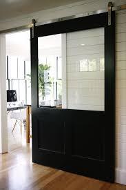 house interior glass barn doors