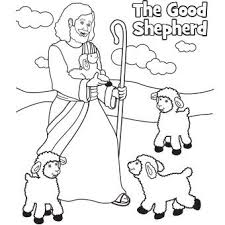 Shepherd With Sheep Coloring Page Color Bros