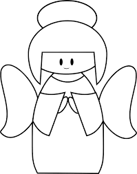Simple christmas angel clipart black and white - Clip Art Library