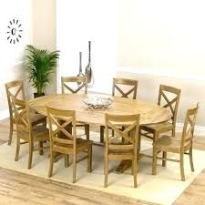 oak dining table and chairs favorable oval tables for extending collection in room 6