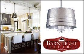 farmhouse pendant lighting. bucket pendant lighting in a farmhouse kitchen e