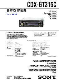 sony car audio service manuals page 27 Sony Cdx Gt330 Wiring Diagram cdx gt315c service manual sony cdx gt300 wiring diagram