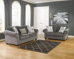 Living Room Sofa And Loveseat Sets Makonnen Charcoal Sofa Loveseat Set Dallas Tx Living Room Set