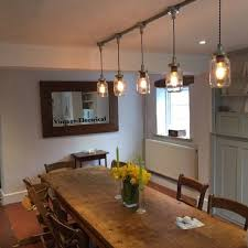 mason jar lighting fixture. the keswick 5 x kilner hanging mason jar lights ceiling dinning room office kitchen table vintage lighting fixture