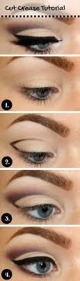 cut crease tutorial for blue eyes