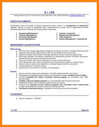 11+ Summary Examples For Resume | Way Cross Camp