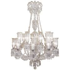 monumental 1860s rare hand cut bamboo crystal twenty arm baccarat pertaining to brilliant home baccarat crystal chandelier designs