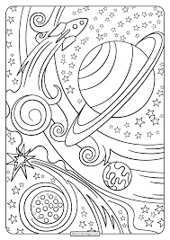 These space coloring pages for kids can get your child(ren)'s imagination going as they prepare to take off into space. Free Printable Rocket And Planets Pdf Coloring Page Planet Coloring Pages Space Coloring Pages Star Coloring Pages