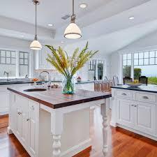 kitchen lighting ideas interior design. Kitchen Lighting Ideas With 2 Pendant Lamp Over Island And Ceiling Recessed Lighting: Interior Design A