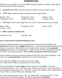 Monatomic Ions A Monatomic Ions In Order To Determine The
