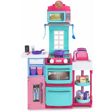 little tikes cook n kitchen pink with 32 piece accessory set com