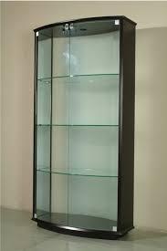 White corner display cabinets