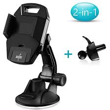 Nonzers Car Phone Holder One Click Release Strong Suction Cup