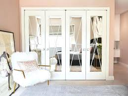 mirrored wardrobe doors awesome folding mirror closet how to update your on a throughout 1