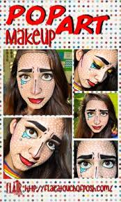 diy pop art makeup look amazing for this