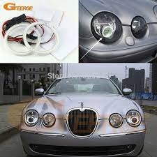 For Jaguar S Type S Type 2003 2004 2005 2006 2007 2008 Hid Headlight Excellent Ultra Bright Illumination Smd Led Angel Eyes Kit Jaguar S Type Jaguar Car Lights