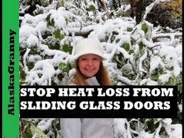 stop heat loss from sliding glass door