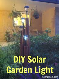 diy solar garden light timbers diy outdoor lamp posts canada pole built from landscape and