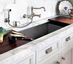image of wall mount kitchen faucet with sprayer