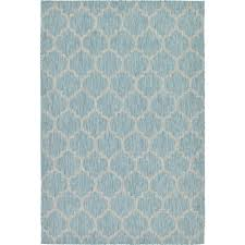 outdoor aquamarine 6 x 9 39 indoor outdoor rug