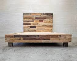 etsy pallet furniture. Reclaimed Wood Platform Bed Base Natural Twin Full Queen King Cali California Foundation Headboard Beach Etsy Pallet Furniture L