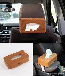 car styling tissue box towel tissue holder tissue box high quality leather lattice pattern automobile interior accessories car dashboard accessories