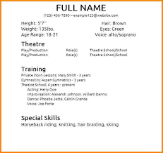 8 Beginner Acting Resume Resume Cover Note