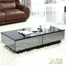 mirror coffee tables glass mirror coffee table stylish black mirror effect glass living room coffee table