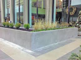 L shape concrete planter box for outdoor home garden