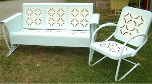 image of vintage metal retro lawn chairs