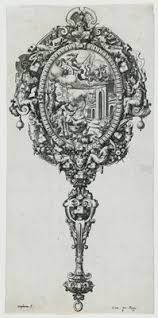 hand mirror sketch. Design For A Hand Mirror, 1561 Mirror Sketch E