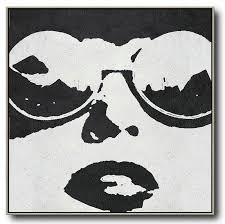acrylic painting wall art oversized minimal black and white painting modern abstract wall art
