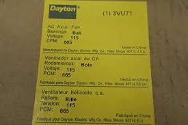 new dayton 3vu71 115v ac 665cfm 10in ac axial fan d554539 amazon industrial scientific