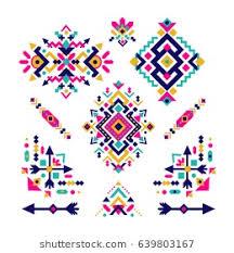 navajo border designs. Set Of Fashion Mexican, Navajo Or Aztec, Native American Patterns. Geometric Ethnic Decoration Border Designs