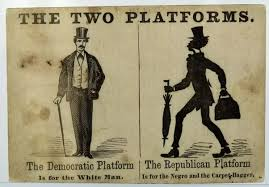 Image result for the Democratic Party was severely split between northern and southern Democrats over the issue of slavery
