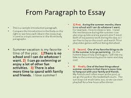 a paragraph into an essay ppt video online from paragraph to essay