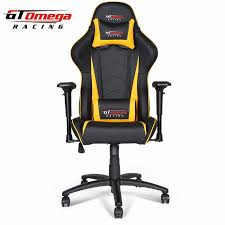 gt omega pro racing office chair black next yellow leather