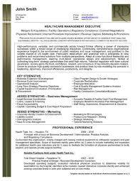 health care management executive resume template resume templates for executives