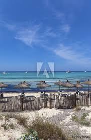 beautiful beach of es trenc majorca balearic island spain