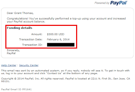 Grant Load Paypal Details With Transaction Travel Cash