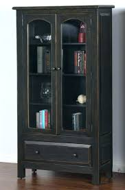 Dark Wood Bookcase With Doors Antique Glass Painting White. White Wood  Bookcase Canada Ashley Furniture With Doors Solid. Reclaimed Wood Bookcase  With Doors ...