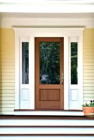 s en wooden storm door with glass