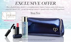 receive a free 4 pc gift with your 250 clé de peau beauté purchase
