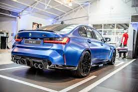 2021 Bmw M3 Displayed In The Frozen Portimao Blue Color From Bmw Individual The Automobile Blog