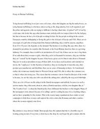 essay on human trafficking dk essay on human trafficking