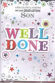 Congratulations On Your Graduation Son Card Well Done Ebay