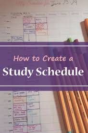 how to create a study schedule too late bts and look at