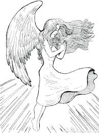 Dark Angel Coloring Pages Of Dark Fallen Angel Coloring Pages