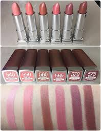 swatches of the new maybelline creamy matte brown s collection these lipsticks are creamy matte and glides smoothly on the lips